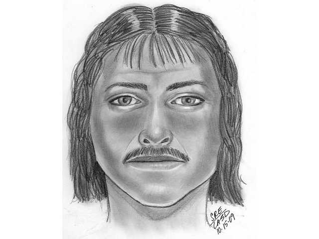 Above is a sketch released by the Santa Clarita Valley Sheriff'sStation depicting the suspect in an alleged kidnapping attempt of a woman in Canyon CountryOct. 11. Residents with information about the suspect can call the sheriff's station directly at (661) 255-1121 or anonymously at (661) 284-2847.