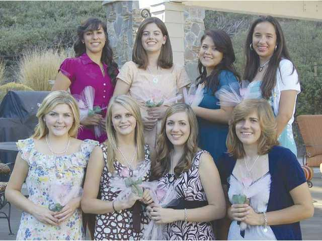 The 2008-09 Henry Mayo Silver Rose Guild Debutantes made their debut at a presentation tea held at a private home in Newhall. The 2008-09 debutantes are: Front row, Heather Kate Duncan, Alexandra Nicole Crowder, Laura Rose When and Kebra Elizabeth Sedam, back row, Noelle Chadbourne, Sarah Nicole Turchan, Kaila Marie Caroline Pascua, Jennifer Rios. Not pictured is Katie Megan Baker.