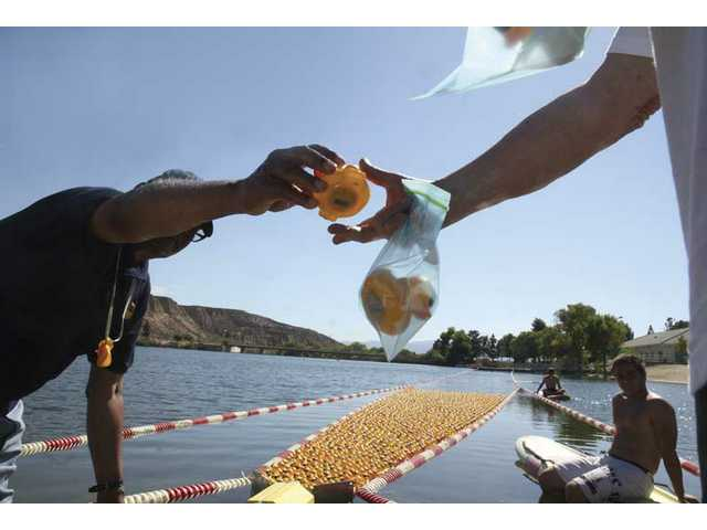 4,000 rubber duckies race in Castaic