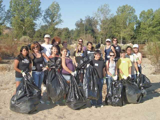 The SiViCS Club cleared trash out from the Santa Clara River as part of the SCV River Rally, the club's first event of the season.