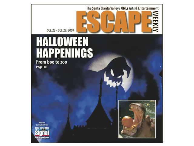 """New this year to Halloween Time at Disneyland is the fireworks show """"Halloween Screams - A Villainous Surprise in the Skies."""" (Inset) Pumpkin munching at the Los Angeles Zoo."""
