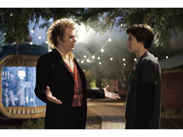 "John C. Reilly as Crepsley, left, and Chris Massoglia as Darren in ""Cirque Du Freak: The Vampire's Assistant""."