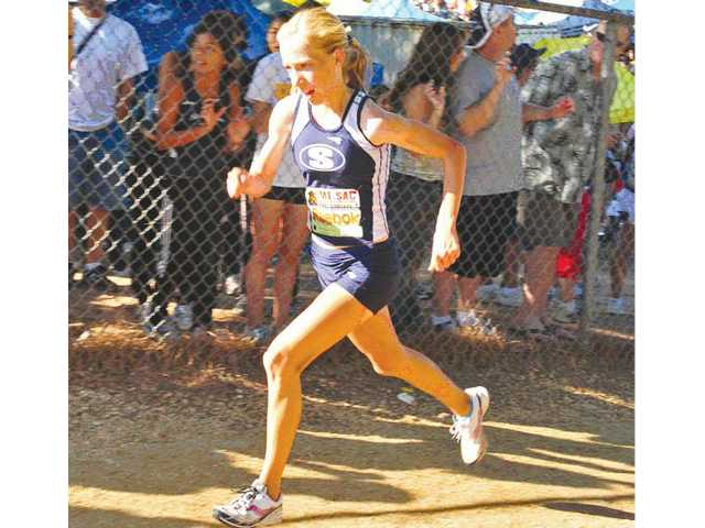 Karis Frankian, who finished second overall at the Mt. SAC Cross Country Invitational on Saturday, paced the Saugus team with a time of  17 minutes, 38 seconds.
