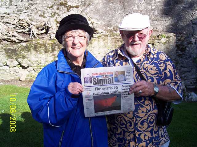 Because their special newspaper, The Mighty Signal, always contains a bit of the Blarney, Sue Prout and John McKinney took this picture in front of the Blarney Castle in County Cork Ireland. John made it up the 300 steps and kissed the stone. Sue however, understanding she did not need more of the gift for gab, remained in the gift shop and made some auspicious purchases.