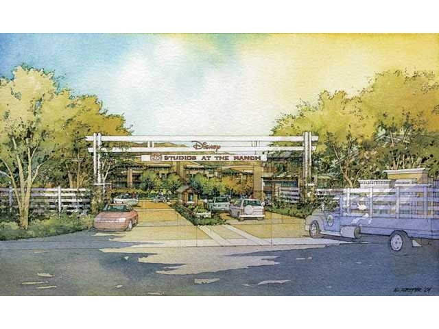 An artist's rendering of the proposed entrance for the Disney | ABC Studios at the Ranch located directly across the northbound Placerita Canyon Road exit from Highway 14.