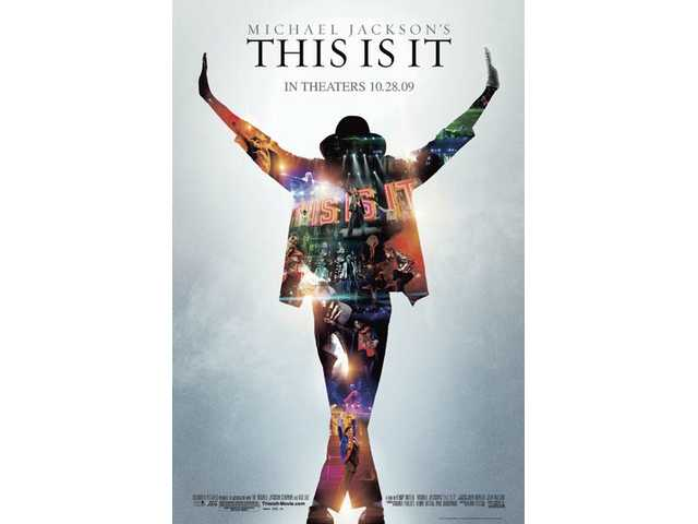 "The movie poster for Michael Jackson's ""This is It."" The film, about the concert tour that never occurred, opened this week."