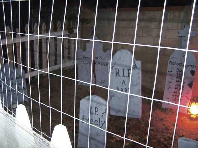 The MacLennan's home on Kristin Lane will have a graveyard as well as special lighting and sound.