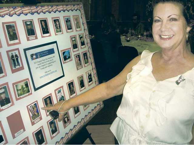 Blue Star mom Terrie Mann showed her pride as she pointed out a picture of her 25-year-old son Tommy, a soldier in the Army since 2008.