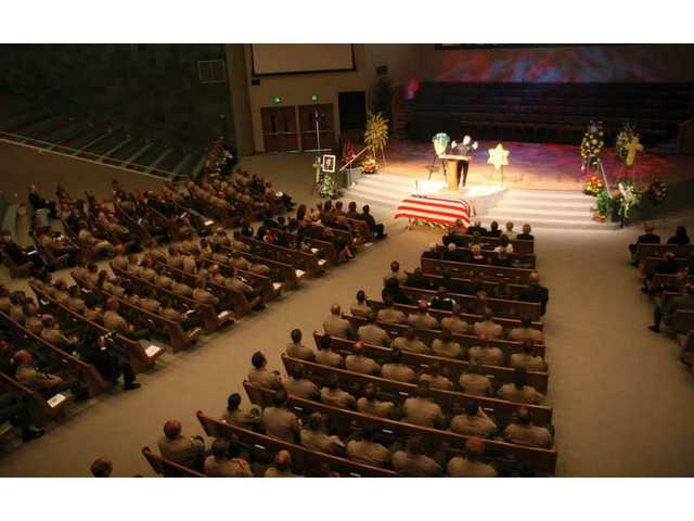 L.A. County Sheriff's and Fire,as well as CHP, was present at Dep. Randy Hamson's funeral service Thursday morning. Hamson was laid to rest at Eternal Valley Memorial Park and Mortuary.
