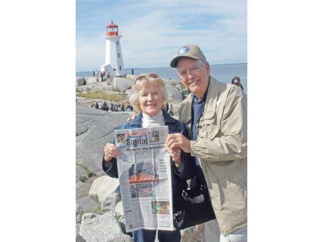 Bobbie and John Stephens visited the lighthouse at Peggy's Cove in Nova Scotia, Canada during their September vacation.
