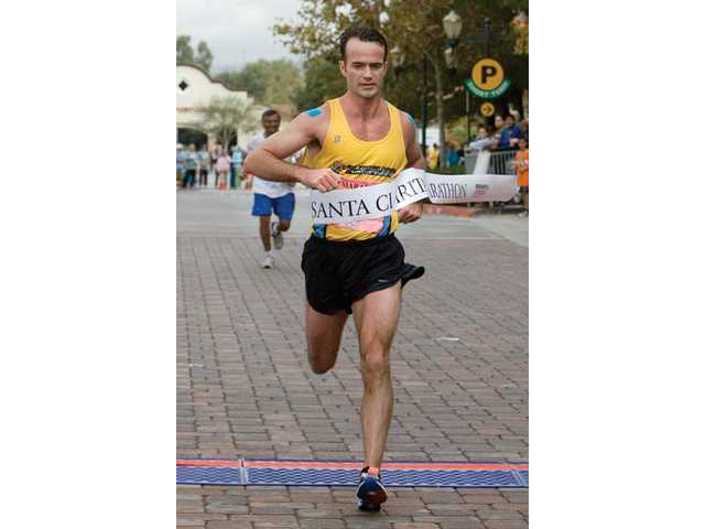 Shane Logan of Pontiac, Mich., finished the marathon in first place.
