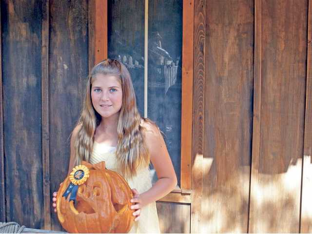 Kelly Gooding, 11, won the 11-and-up category at the annual Pumpkin Festival held at Heritage Junction in Newhall. The sixth grader attends Peachland Elementary School in Newhall.