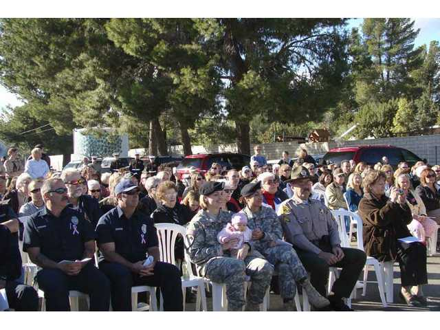 Veterans, Boy Scouts and survivors from the attack on Pearl Harbor were on hand to dedicate the Military Commemorative Mound Saturday in Agua Dulce.