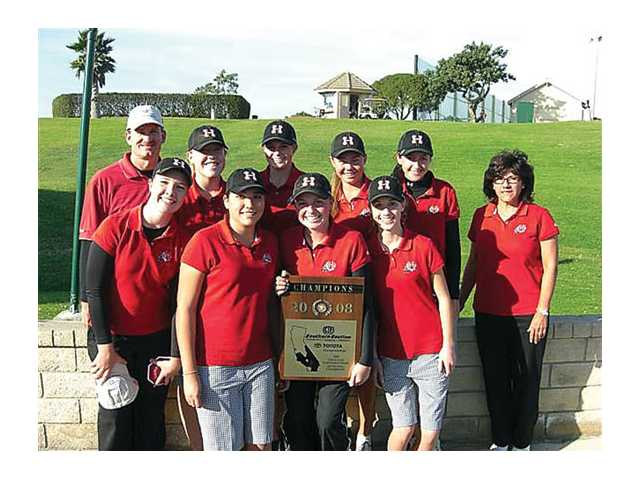 Hart girls golf took first place Monday at the CIF-SS Northern Team Divisional.
