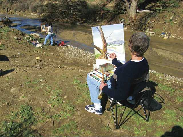 "Artists from the Santa Clarita Artists' Association paint scenes during one of the association's ""Plein Air"" events. SCAA members' works are regularly displayed at venues throughout the Santa Clarita Valley."