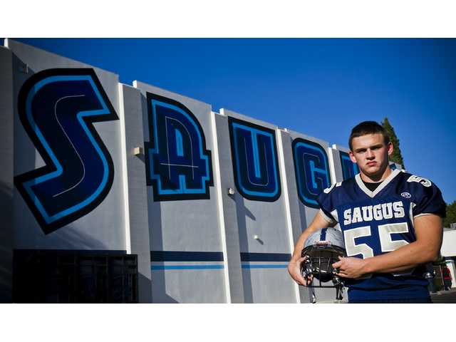 Saugus High senior offensive lineman Justin Peacock is a two-year varsity starter for the Centurions. The 6-foot, 230-pound lineman has been part of two of the most successful teams in the program's history.