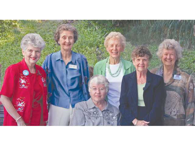 Santa Clarita Valley AAUW charter members (L-R): Pat Kelley, Jane Hanson, Sue Fields, Jane Adams, Betty Granger and Diane Kreyenhagen.