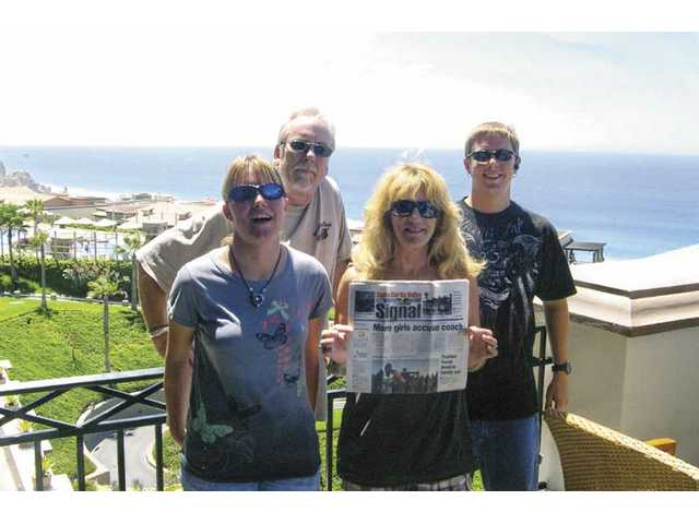 Phil, Peggy, Nathan and Jamie Defibaugh of Canyon Country vacationed in Cabo San Lucas, Mexico in July.