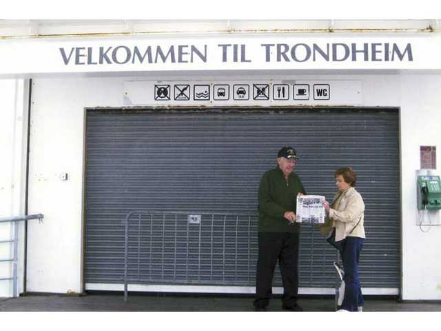 Floyd and Nancy Johnson of Castaic beat the heat in July by going on a cruise along the coast of Norway up to the North Cape. They took their copy of The Signal to the city of Trondheim, Norway.