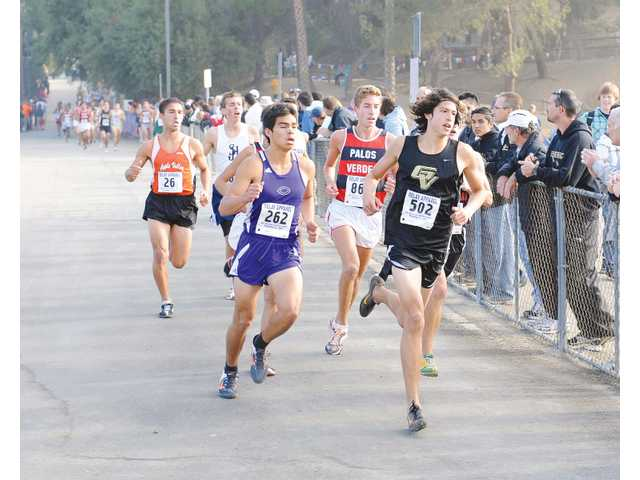 Golden Valley's Seth Totten runs during the CIF-Southern Section Division III final on Saturday at Mt. San Antonio College. Totten took fifth place.
