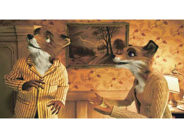 "Mr. Fox, voiced by George Clooney, left, and Mrs. Fox, voiced by Meryl Streep, in ""Fantastic Mr. Fox."""