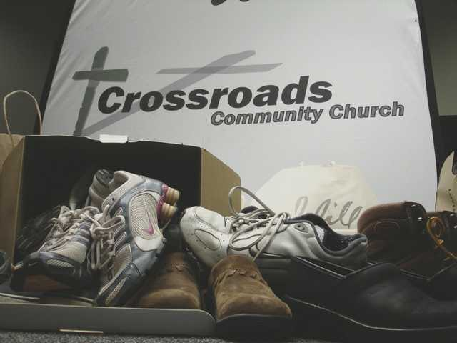 Crossroads Community Church is collecting used and new shoes for the Union Rescue Mission until Dec. 19 at 28042 Avenue Stanford Unit D in Valencia.