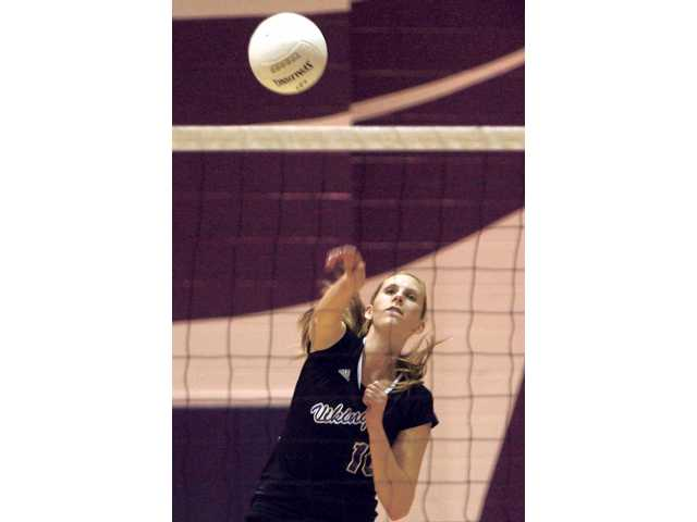 Valencia senior outside hitter Katie Hank.