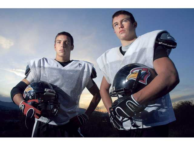 Brothers Ryan and Ethan Espinosa have helped lead Santa Clarita Christian into today's CIF-Southern Section Division I 8-Man championship game against Faith Baptist. Both are key components of the Cardinals' defense.