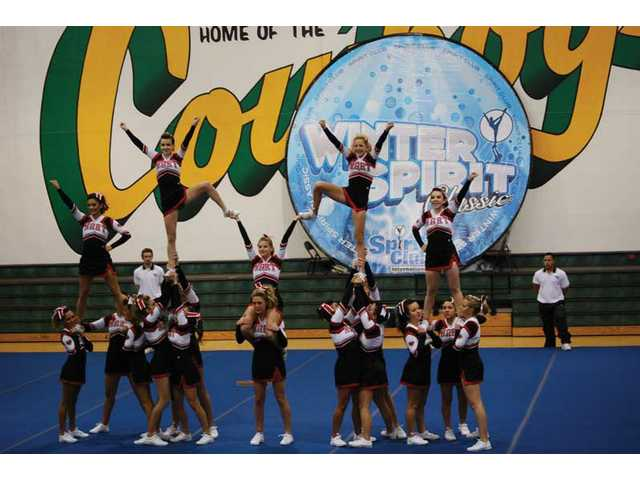 The William S. Hart High School junior varsity and varsity cheerleading teams took first place in the Winter Spirit Classic Sunday at Canyon High School. The competition qualifies the teams for national cheerleading competitions.