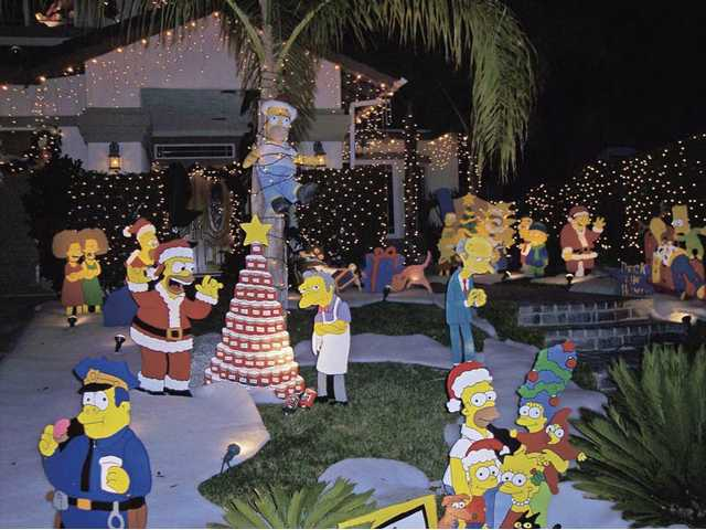 "Everything was ""Simpsons"" at the home of Wes Novotny and John Fosterling on Ash Court in Saugus."