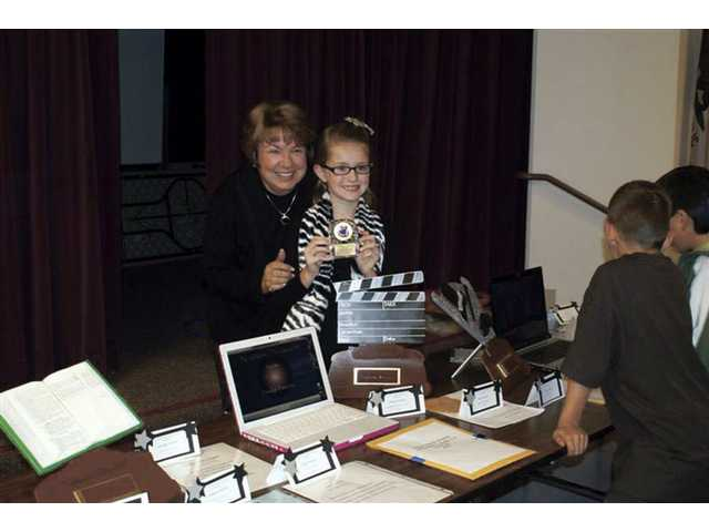 Haidyn Panarisi, award of excellence in film productions, third through fifth grade.