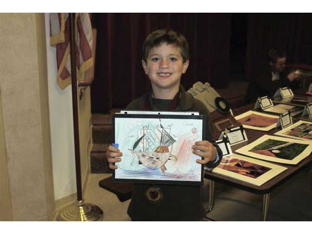 Carson Panarisi, honorable mention in visual arts, kindergarten through second grade.
