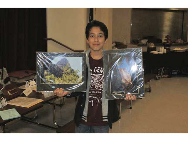 Steven Gudino, award of excellence and award of merit in photography, sixth grade.
