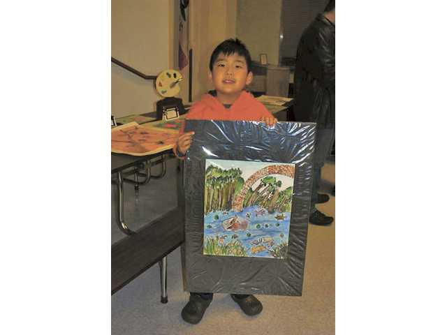 Nathan Kim, award of excellence in visual arts, kindergarten through second grade.