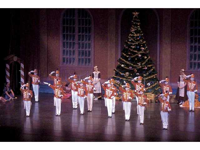 The Nutcracker calls up an army of soldiers to fight the Mouse King during Thursday's performance.