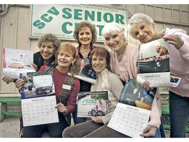 Senior Center Calendar models, from left: Armida Brooks (April), Cathie Rydall (March), Marilyn Rainey (December), Linda Bennett (July), Mary Gallant (October) and Lillian Williams (February). The Santa Clarita Senior Center produced the calendar as a way to raise funds for its services and programs, as well as awareness of ageism.