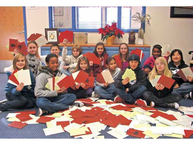 Pictured are the Student Council members who helped collect the cards.