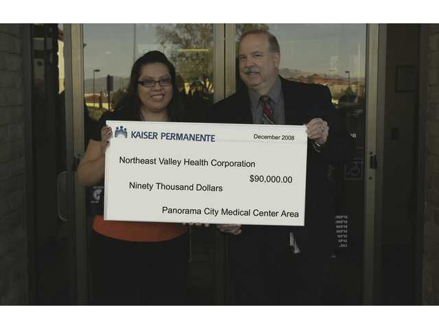The Northeast Valley health center in Valencia received $90,000 from Kaiser Permanente. The money will be used to renovate and update their offices.