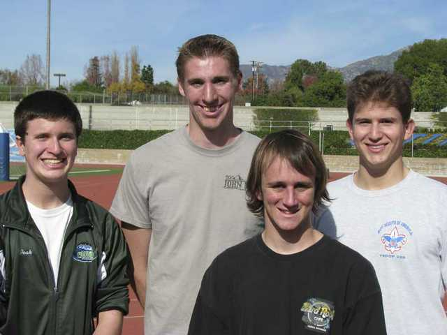 Local Eagle Scouts Tim Peak, Curtis VanGrinsven, Christopher Nores and Rafael Ollervide will march in the 121st annual Rose Parade in Pasadena on New Year's Day.