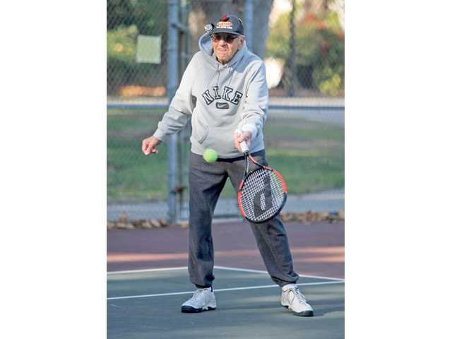 At age 88, Ed 'The Legend' Jace, celebrated his birthday on Dec. 29 by playing tennis with a group of men at Valencia Glen Park. Five days a week, a group of Jace's friends gathers at the courts to play a few sets. The group's average age is around 65 years old.