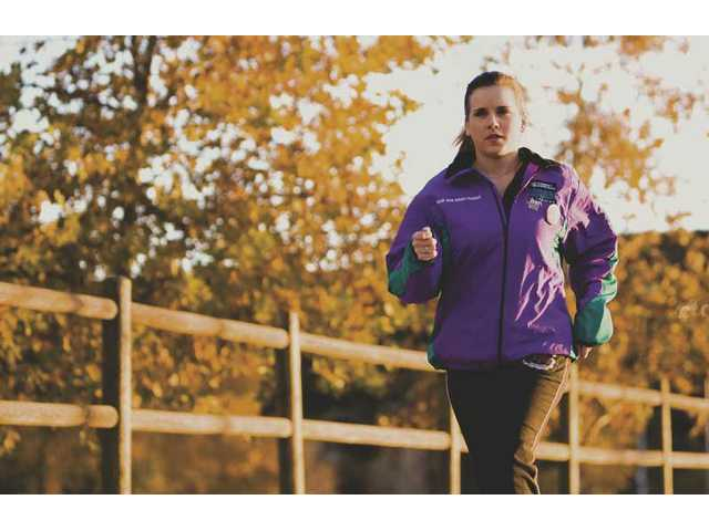 Twenty-nine-year-old Tracy McKinney in training to run her first marathon.