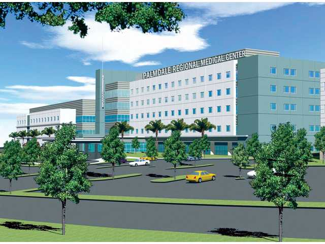 Artist's rendering of what the Palmdale Regional Medical Center will look like once completed at the end of 2009. Hospital officials believe the new hospital will draw people from Acton, Agua Dulce and parts of Canyon Country.