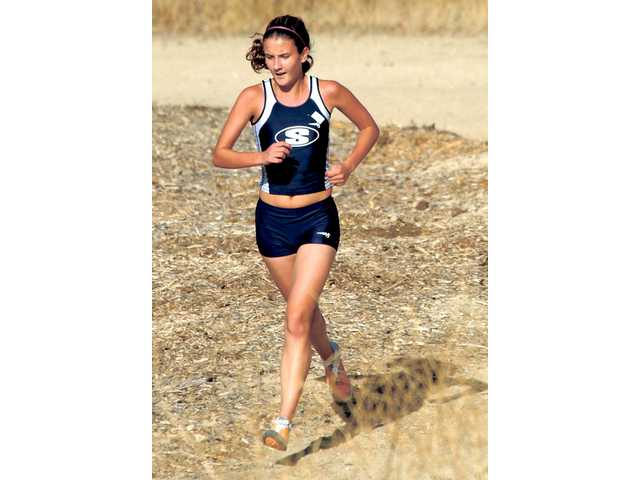 Saugus' Shannon Murakami paces the Centurions' girls cross country team during a Foothill League meet Oct. 12, 2006, in Central Park. Murakami now runs for UCLA.