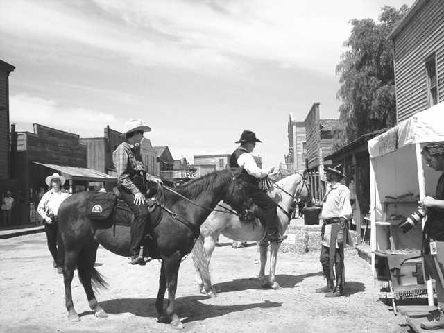 Make new friends as you wander the main street of historic Melody Ranch Motion Picture Studio.