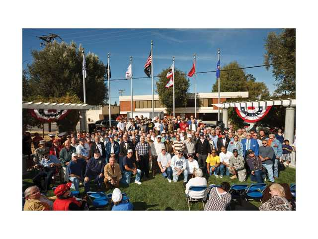The Santa Clarita City Council joined the community at the Veteran's Historical Plaza to salute the men and women of the United States armed forces on Veteran's Day Tuesday.