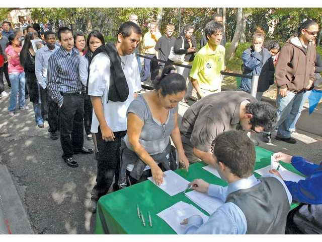 The 2009 Six Flags Magic Mountain/Hurricane Harbor job fair helped the park fill about 2,000 seasonal positions. This year's fair is set for Feb. 27-28.