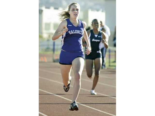 Valencia's Aly Drake, the 2009 CIF state champion in the 800-meter race, runs at a 2009 Foothill League meet.