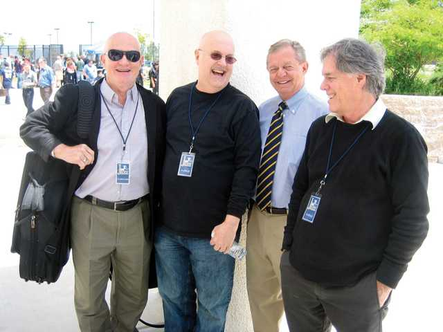 From left to right, Don Menza, Tom Scott, Bob Babko and Les Hooper at the Super Jazz festival at West Ranch on May 22.