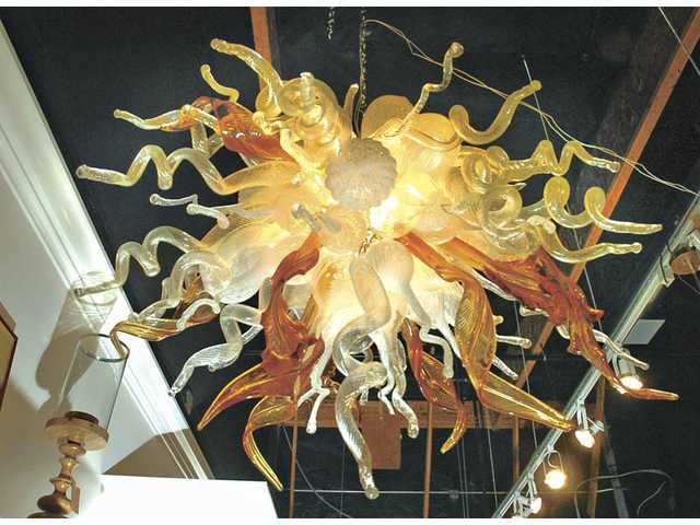 A hand-blown glass chandelier is among the offerings at Clear Images in Stevenson Ranch.
