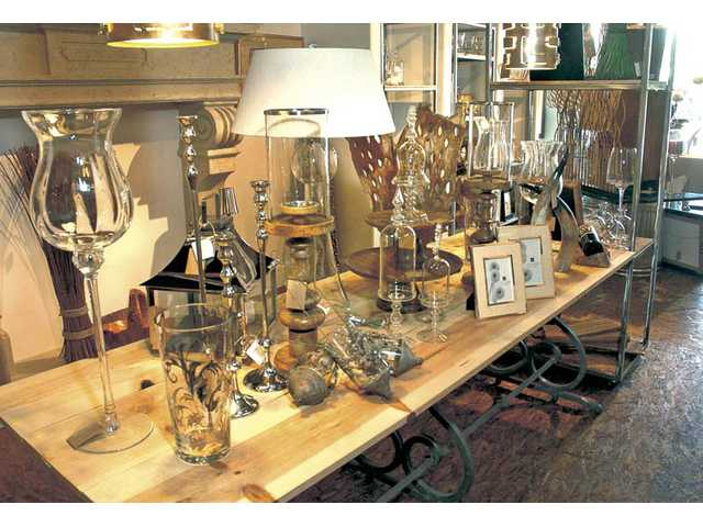 In addition to selling a variety of home furnishings, Stephanie Laney's shop, Clear Images, serves as a showroom for her interior design work.